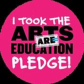 I Took the Arts ARE Education Pledge