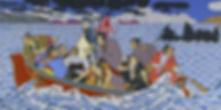 Shimomura, Shimomura Crossing the Delawa