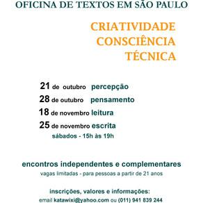 Oficina de Textos: Criatividade, Consciência e Técnica