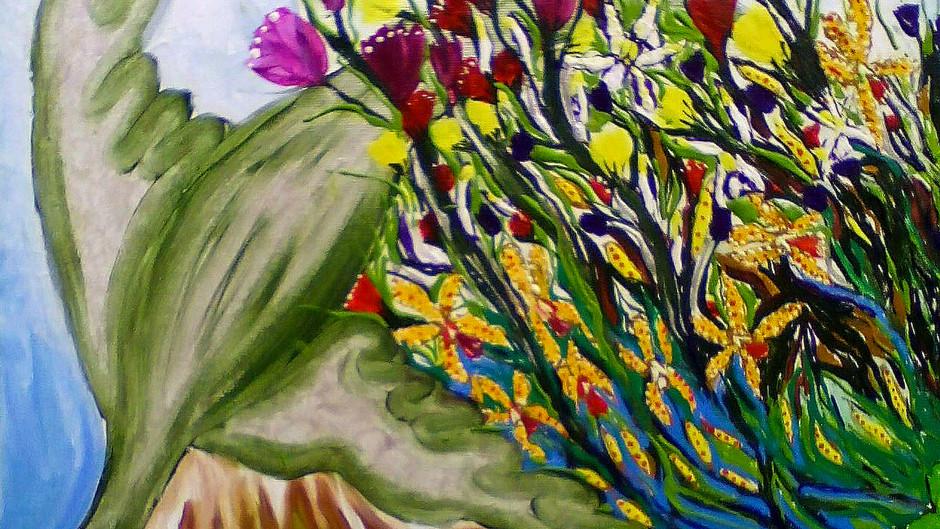 A pintura mutante de inspiração paleozóica de Costaeira
