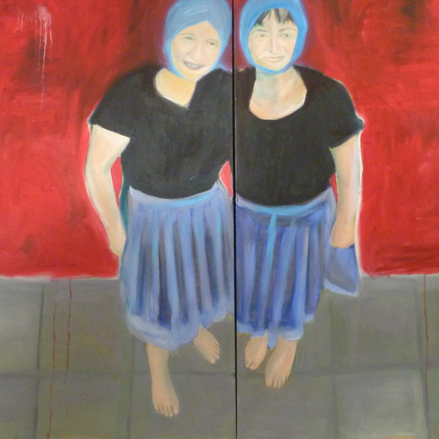 The Double. oil on canvas. 160 x 120 cm