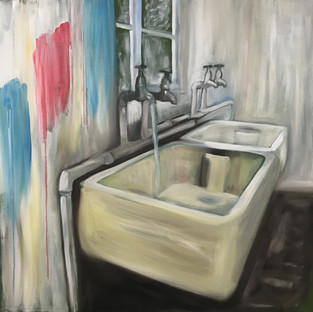 The Taps, oil on canvas 90 x 90 cm