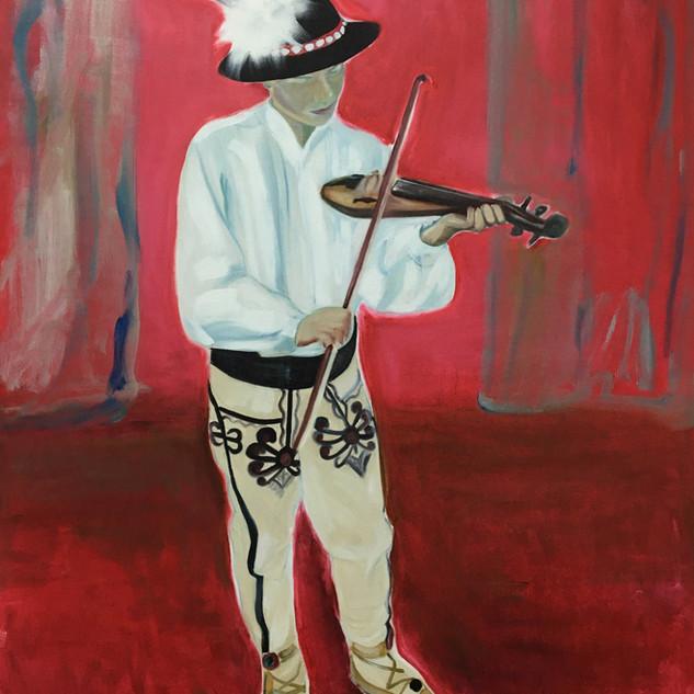 The Soloist, oil on canvas 120 x 90 cm