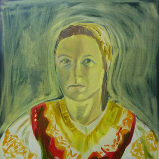 Katarina, Oil on canvas board 60 x 60 cm
