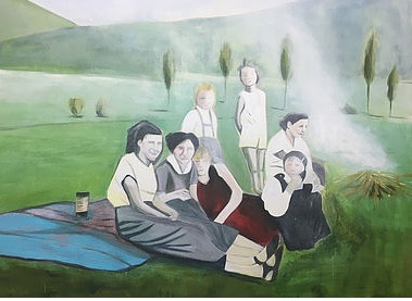 The Picnic. acrylic on canvas, 150 x 180 cm