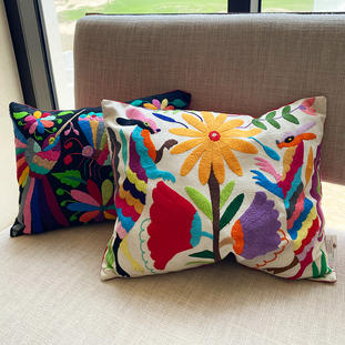 HAND EMBROIDERED PILLOW CASE