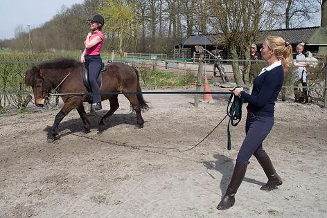 Desiree schuddemat zitles paardrijden trainer houding en balans