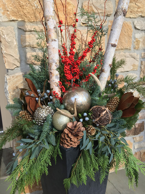 winter decoration for outdoors