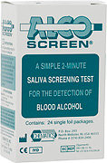 Alco-Screen 2 Minute Saliva Alcohol Test - Not DOT