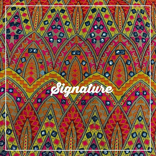 COLORFUL GEORGETTE FABRICS WITH STYLISH DESIGN