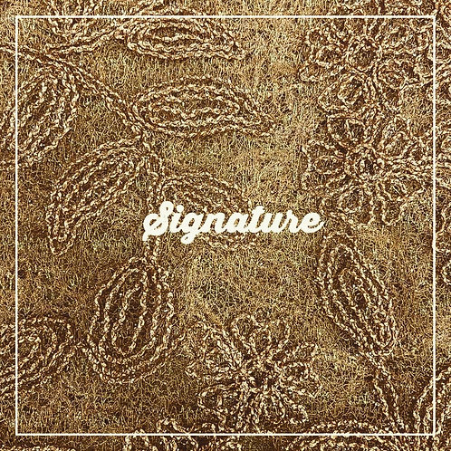 GOLDEN NET FABRIC WITH FLORAL STYLISH DESIGN