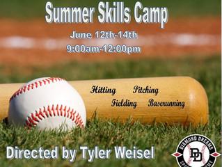 Announcing: Baseball Summer Skills Camp