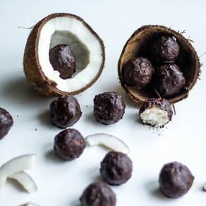 Veganiški kokosų saldainiai