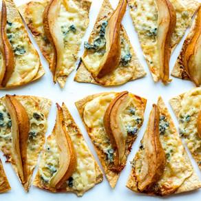 Labai greitas kriaušių ir sūrio užkandis