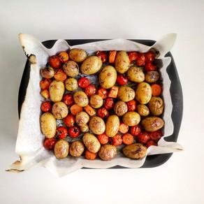 Orkaitėje keptos daržovės su krapais