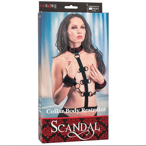 SCANDAL COLLAR BODY RESTRAINT-RED