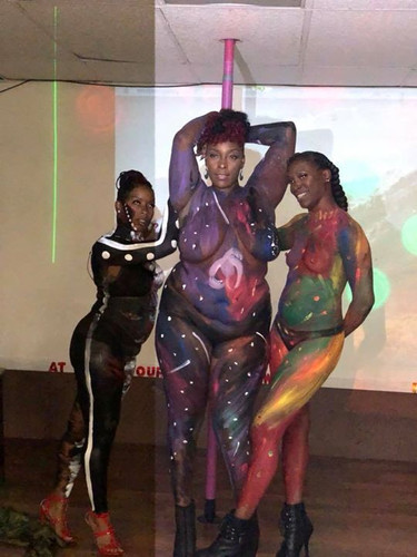 These three ladies though!!!! They showed out! And they look gorgeous!!! NeNe at Nite #prettyandpainted #bodypaintmodels