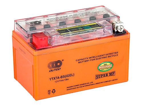 Аккумулятор гелевый с индикатором YTX7A-BS IGEL, Outdo