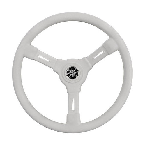 Рулевое колесо RIVIERA белый обод и спицы д. 350 мм