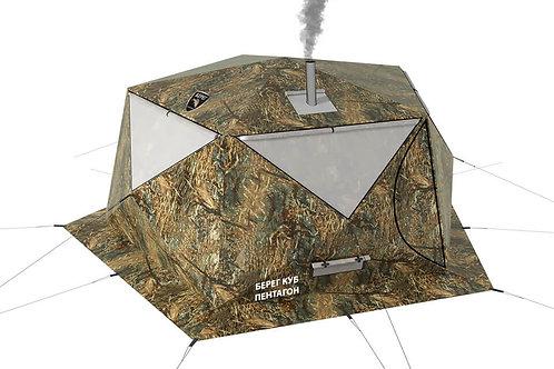 Палатка Куб Пентагон Двухслойный