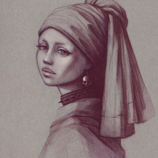 Girl with the Skull Earring