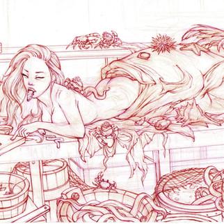 Mermaid Sushi Sketch