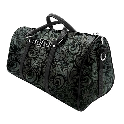 Grey Flower Duffle Bag