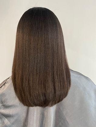 brown hair testimonial