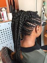 back of female head in braids