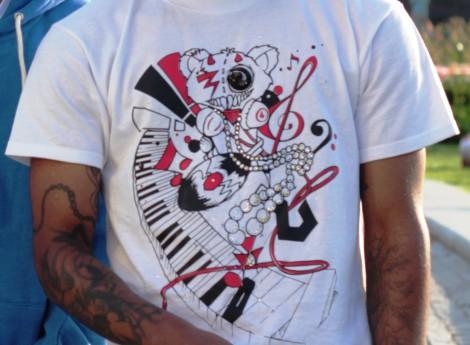Crazy Music Bear T-shirt