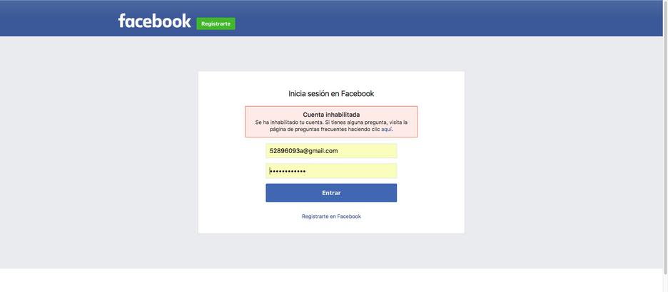 Me han cerrado FaceBook definitivamente