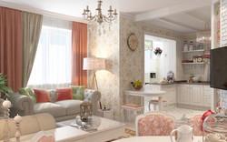 дизайн 2 комнатной квартиры 52 кв м