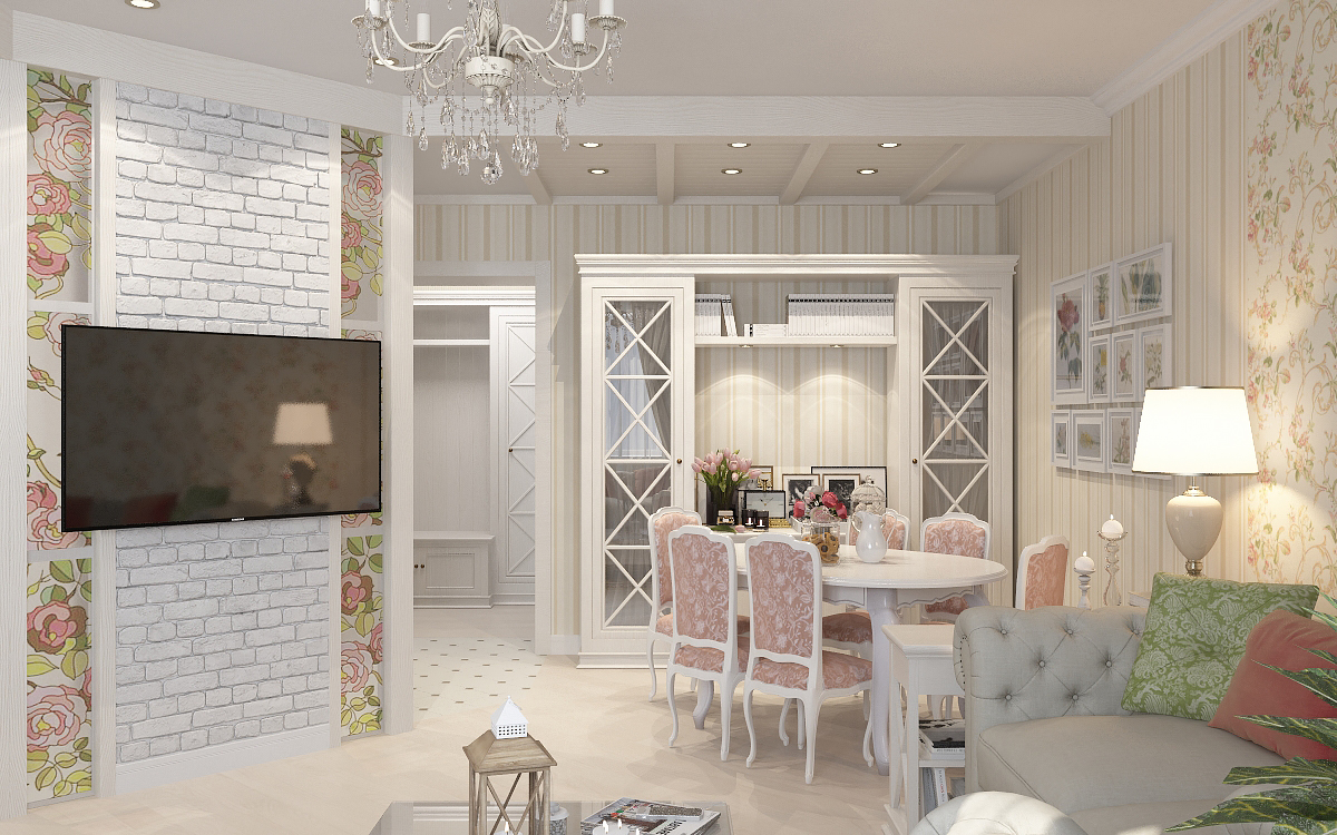 дизайн двухкомнатной квартиры 43 кв