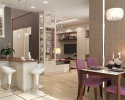 дизайн однокомнатной квартиры 47 м