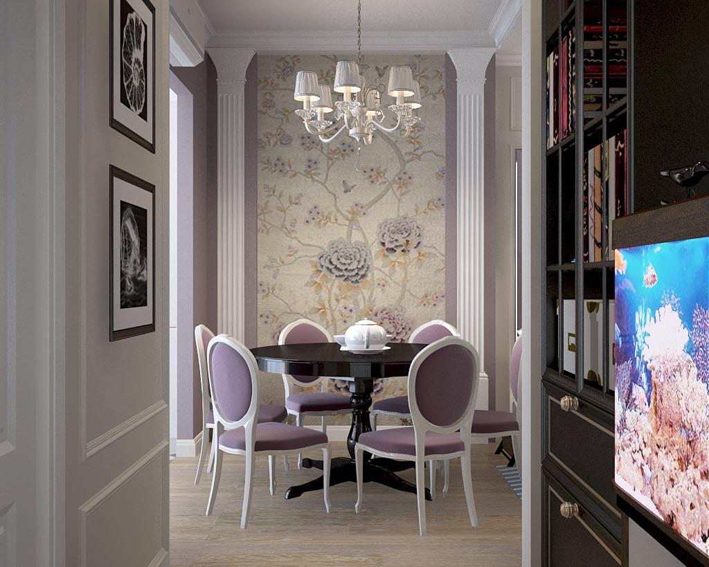 дизайн проект 3 комнатной квартиры п