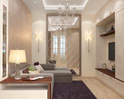 дизайн однокомнатной квартиры 47 кв