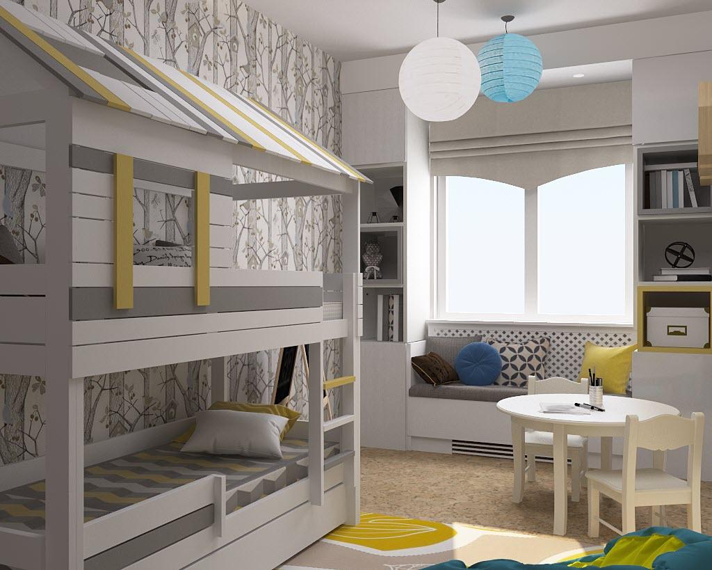 дизайн интерьера квартиры 45 кв
