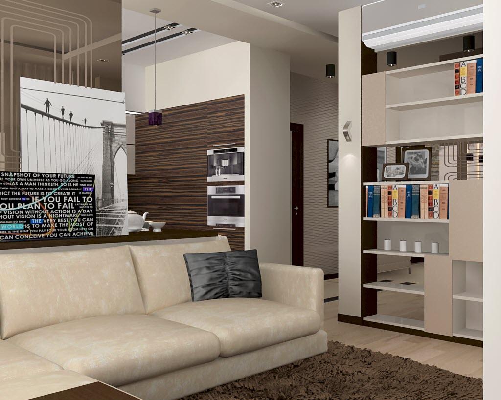 дизайн 1 комнатной квартиры 45 кв м