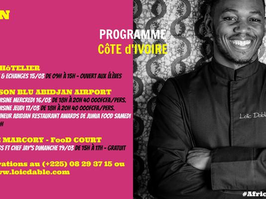 📆 Programme African Food Art Tour @ Abidjan