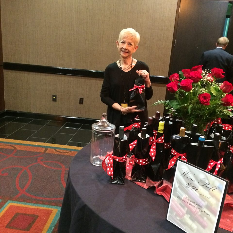 Susan Eiler at the Havenwood Gala Wine Pull