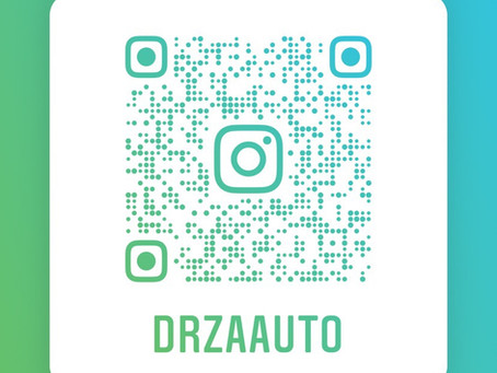 Scan to follow us on Instagram or @drzaauto