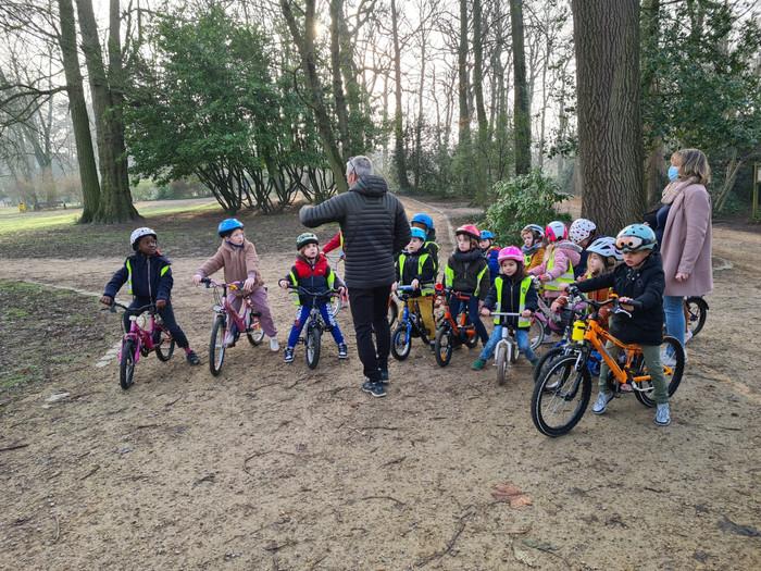 Een echte fietstocht met de 3e KK want ze kunnen allemaal op 2 wielen rijden, proficiat!