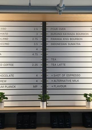 Quantum Coffee Menu