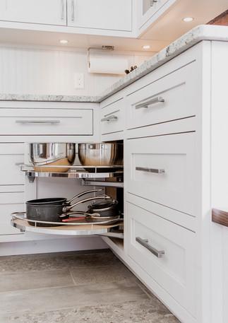 White Framed Kitchen