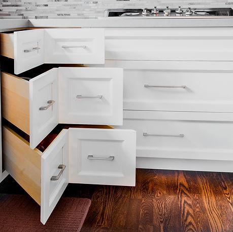 Custom Drawers Kitchens White Cabinets Corner Drawer