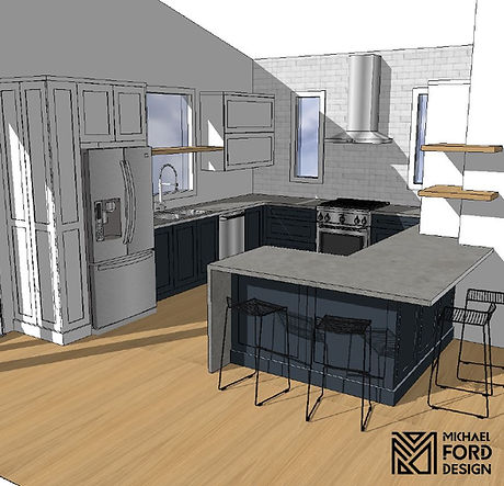 3D Cabinetry Design Kitchen Layout