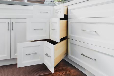 White Corner Drawer