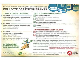 COLLECTE DES ENCOMBRANTS - 16 ET 23 SEPTEMBRE 2020