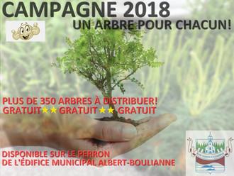 CAMPAGNE 2018 - UN ARBRE POUR CHACUN!