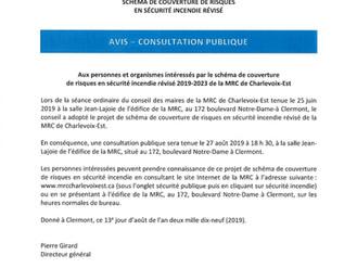 Consultation Publique - MRC de Charlevoix-Est